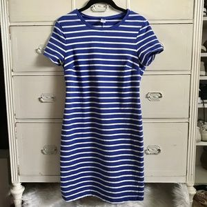 OLD NAVY / Blue&White Stripe Fitted Dress / SZ M